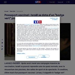 """Passeport vaccinal : Israël se dote d'un """"badge vert"""" pour retrouver la vie d'avant"""