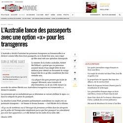 passeports avec une option «x» pour les transgenres