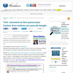 Test : comment se faire passer pour l'auteur d'un contenu aux yeux de Google