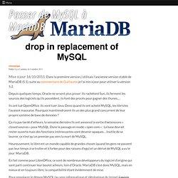 Passer de MySQL à MariaDB