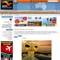 Passer son permis en Australie