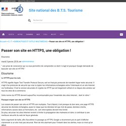 Passer son site en HTTPS, une obligation !