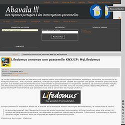 Lifedomus annonce une passerelle KNX/IP: MyLifedomus