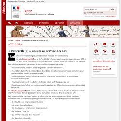 « Passerelle(s) », un site au service des EPI-Lettres-Éduscol