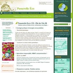 Passerelle Eco n°23 - Été de l'An 06 - Toilettes sèches et théâtre forum - Revue & Livres