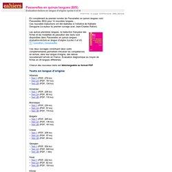 Passerelles en quinze langues (BIS)