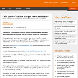 Oslo passes 'climate budget' to cut emissions - The Local