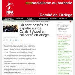 Où sont passés les expulsé.e.s de Calais ? Appel à solidarité en Ariège