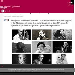 Passez le Bac Musique 2017 : ce qu'il faut savoir