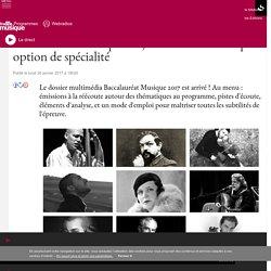 Passez le Bac Musique 2017 avec France Musique : option de spécialité