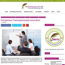 Passgenaue Trainingskonzepte entwickeln