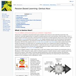 Passion Based Learning: Genius Hour