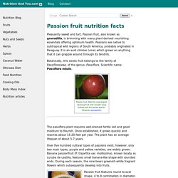 Passion fruit nutrition facts and health benefits