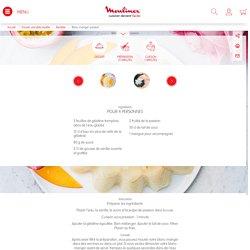 Blanc-manger passion Recette - Moulinex