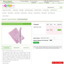Passion Pink Reversible Muslin Cloth From Lulujo