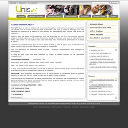 UNIS.fr - La Passion du service - STAGIAIRE INGENIEUR JEE (H/F)