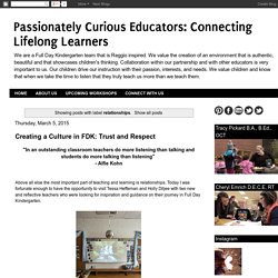 Connecting Lifelong Learners: relationships