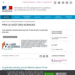 Prix Le goût des sciences - Ministère de l'Enseignement supérieur, de la Recherche et de l'Innovation