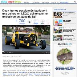 Deux jeunes passionnés fabriquent une voiture en LEGO qui fonctionne exclusivement avec de l'air