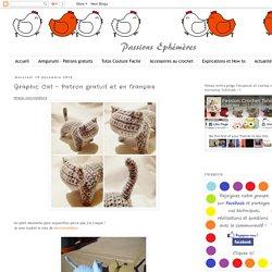 Passions Ephémères: Graphic Cat - Patron gratuit et en français