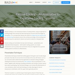 Passive Cooling – An Alternative to Expensive Cooling Systems