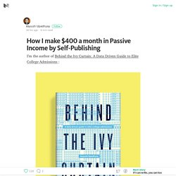 How I make $400 a month in Passive Income by Self-Publishing – Medium