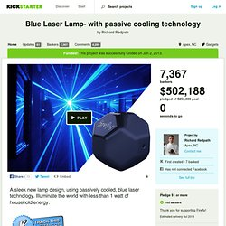 Blue Laser Lamp- with passive cooling technology by Richard Redpath