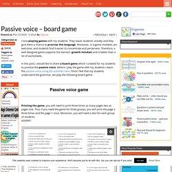Passive voice - board game