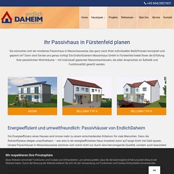 Passivhaus planen in Fürstenfeld