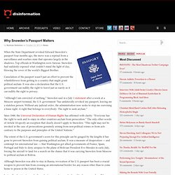 Why Snowden's Passport Matters