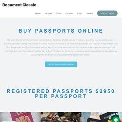 Buy Passport Online - Document Classic