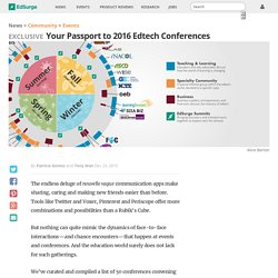 Your Passport to 2016 Edtech Conferences