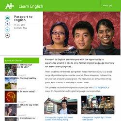 Passport to English - Learn English - Australia Plus