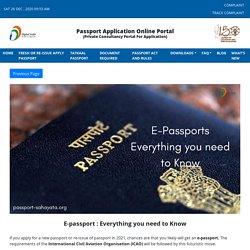 E-passport : Everything you need to Know