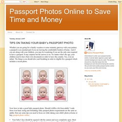 Passport Photos Online to Save Time and Money: TIPS ON TAKING YOUR BABY's PASSPORT PHOTO