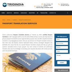 Why is It Wise to Outsource Passport Translation in Ahmedabad?