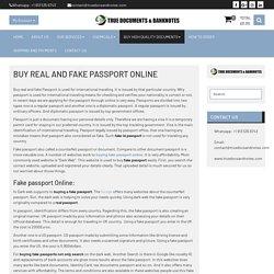 Get online Real Passport For Sale