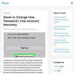 Reset or Change Line Password