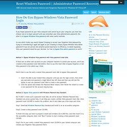 How Do You Bypass Windows Vista Password Login