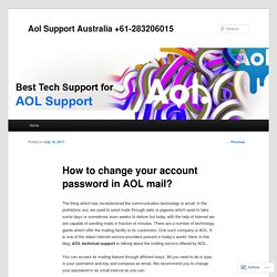 How to change your account password in AOL mail?