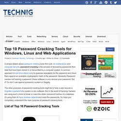 Top 10 Password Cracking Tools for all Platforms