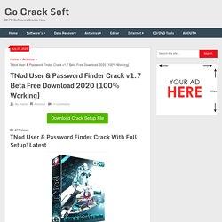 TNod User & Password Finder Crack v1.7 Beta Free Download 2020