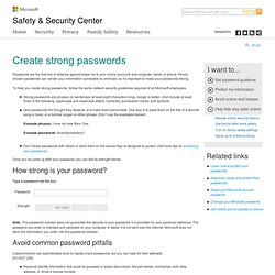 Create Strong Passwords