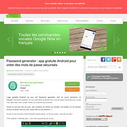 Password generator : app gratuite Android pour créer des mots de passe sécurisés