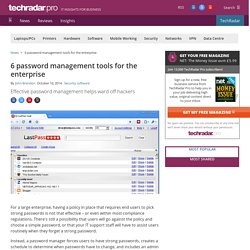 6 password management tools for the enterprise