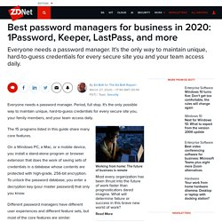 Best password managers for business in 2020: 1Password, Keeper, LastPass, and more
