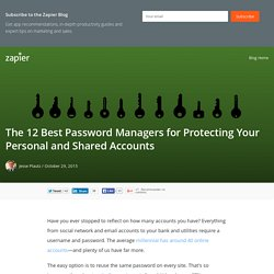 The 12 Best Password Managers for Protecting Your Personal and Shared Accounts