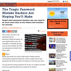 The Tragic Password Mistake Hackers Are Hoping You'll Make