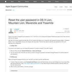 Reset the user password in OS X Lion, Mountain ...