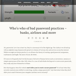Troy Hunt: Who's who of bad password practices – banks, airlines and more